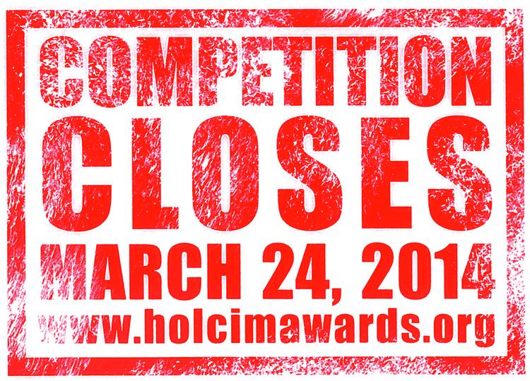 Últimos dias para se inscrever no Holcim Awards