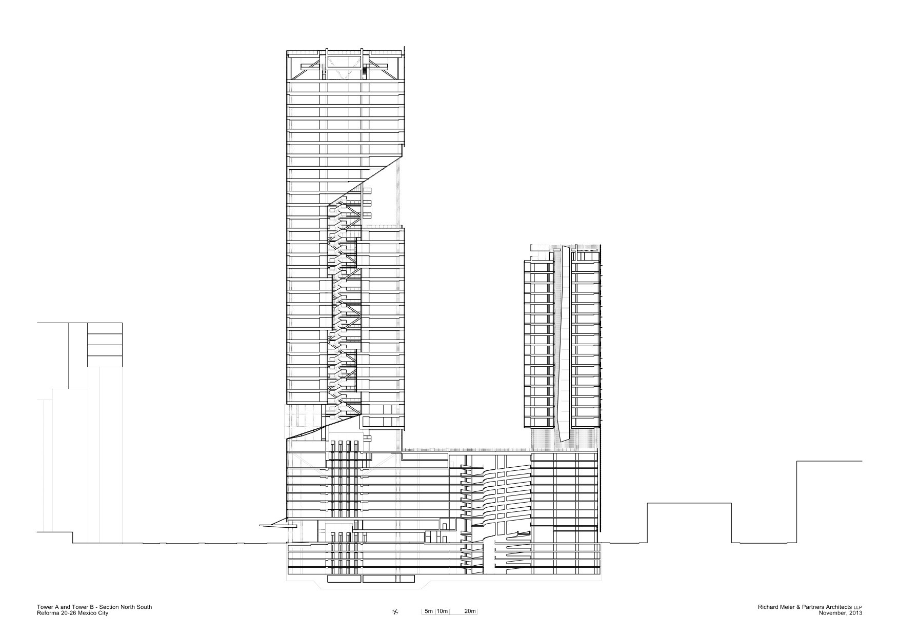 Gallery of richard meier unveils 180 meter tower development in richard meier unveils 180 meter tower development in mexico sciox Images
