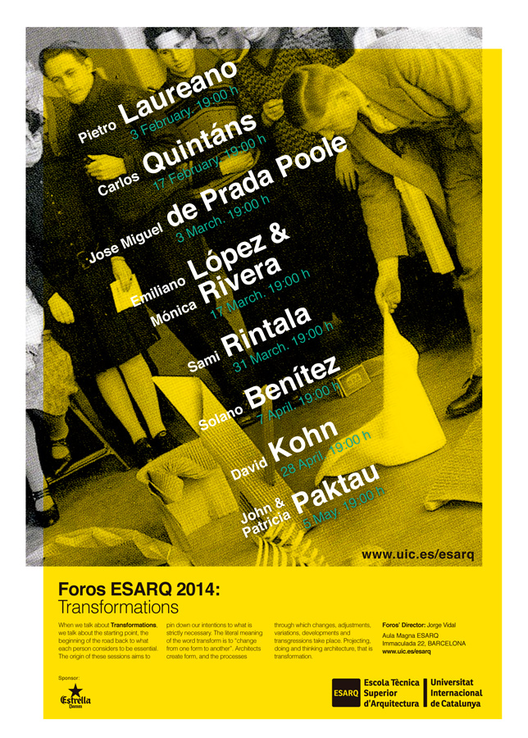 Foros ESARQ 2014: Transformations