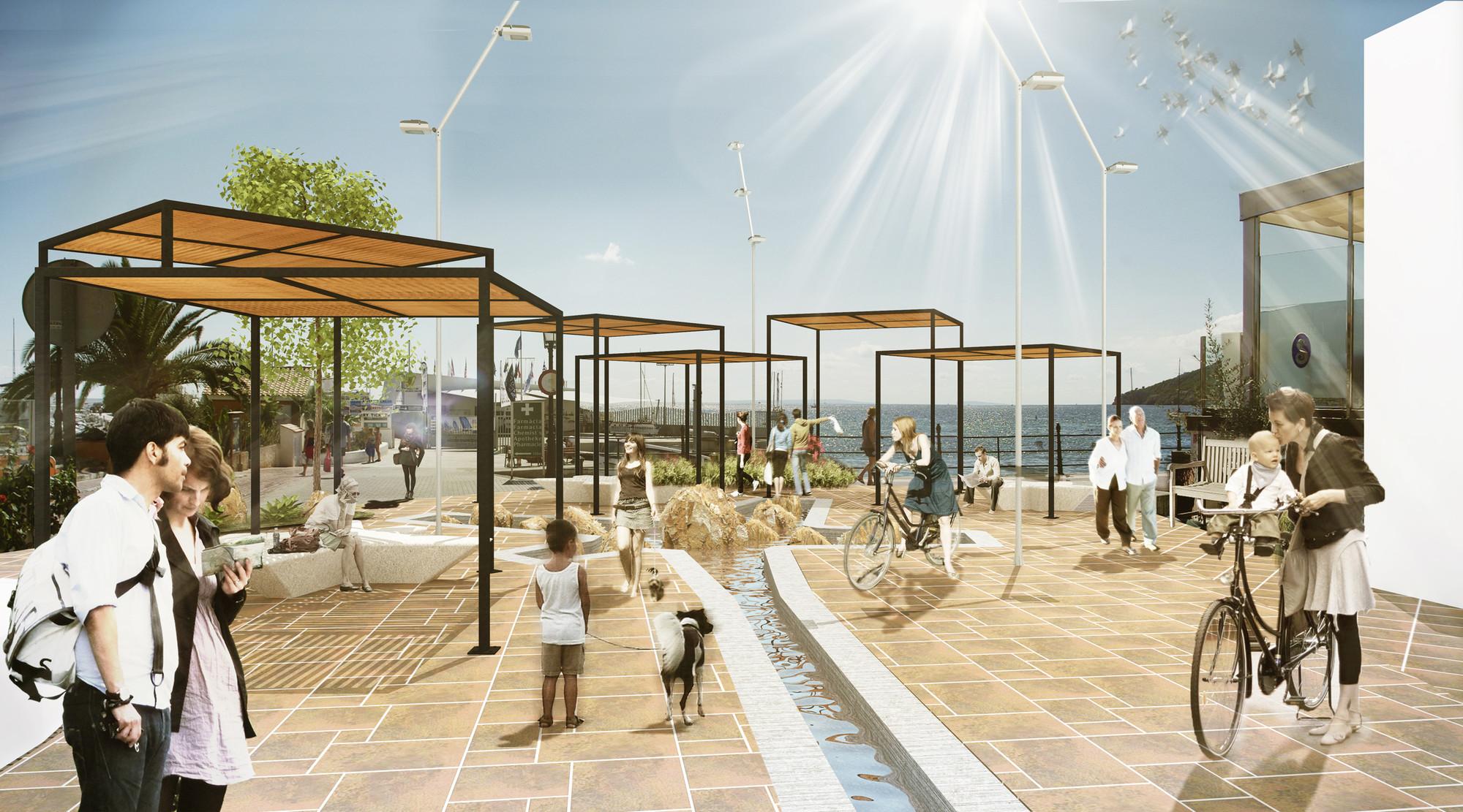 Primer Lugar Concurso Peatonalización de la calle Isidre Macabich en Ibiza, España, Courtesy of AAIMM