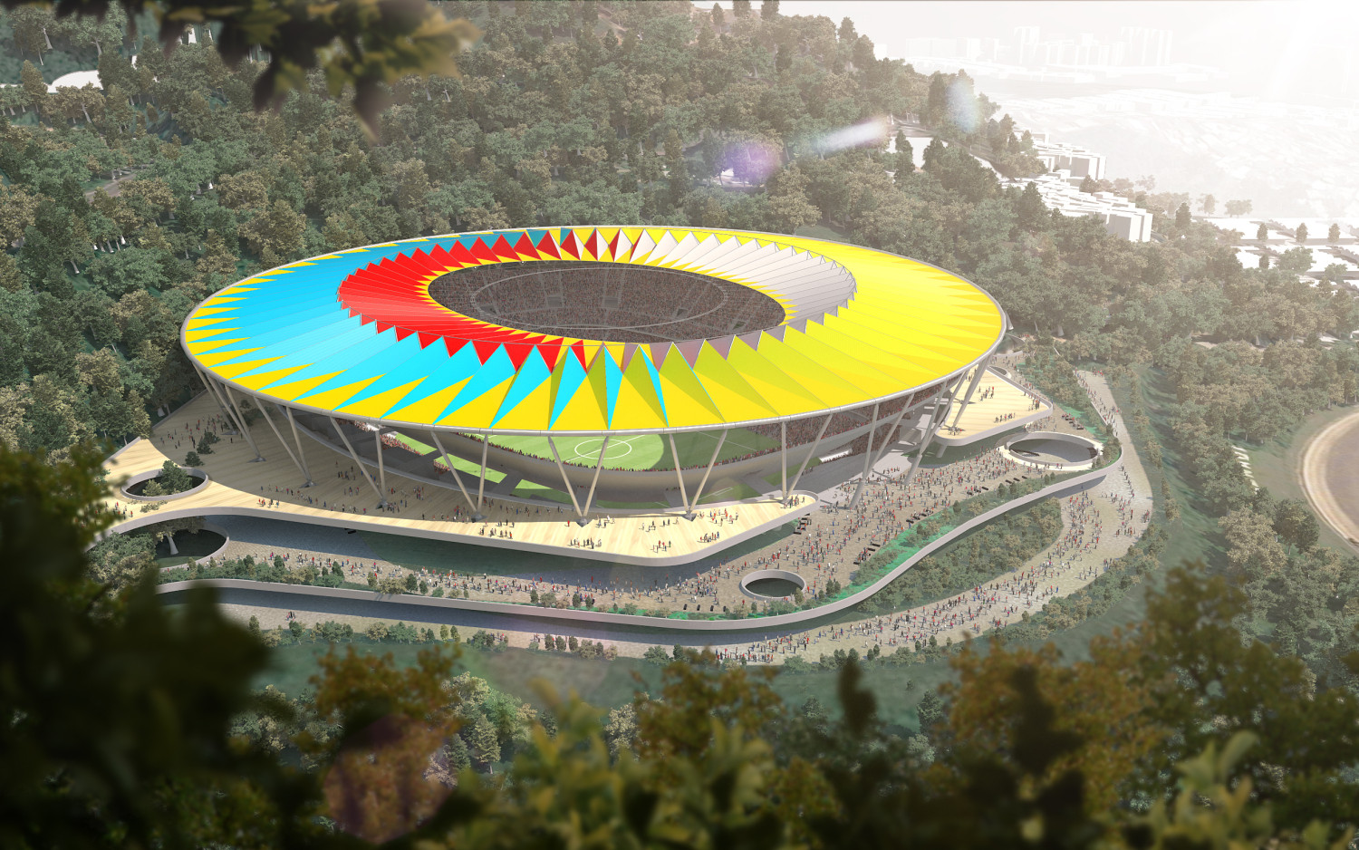Rogers Stirk Harbour Unveils Design for Venezuela's National Football Stadium, © RSHP