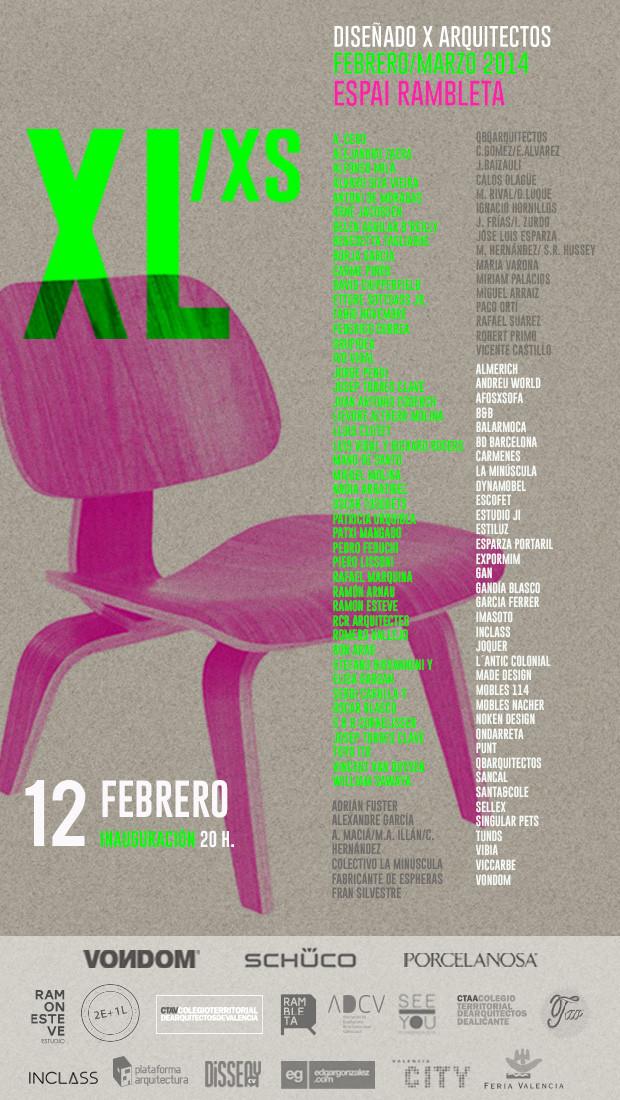 """Inauguración """"XL/xs Diseñado X Arquitectos"""" curada por Ramón Esteve"""