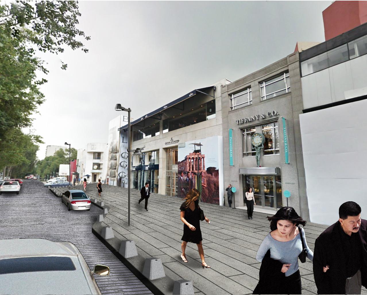 Regeneración urbana de la Avenida Presidente Masaryk, Ciudad de México por bgp arquitectura, Cortesía bgp arquitectura