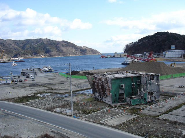The Japanese Tsunami - 3 Years Later, Onagawa after the Tsunami. Image © Flickr CC User inunami