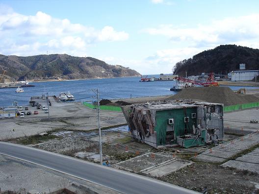 Onagawa depois do Tsunami. Imagem © Flickr CC Usuário inunami