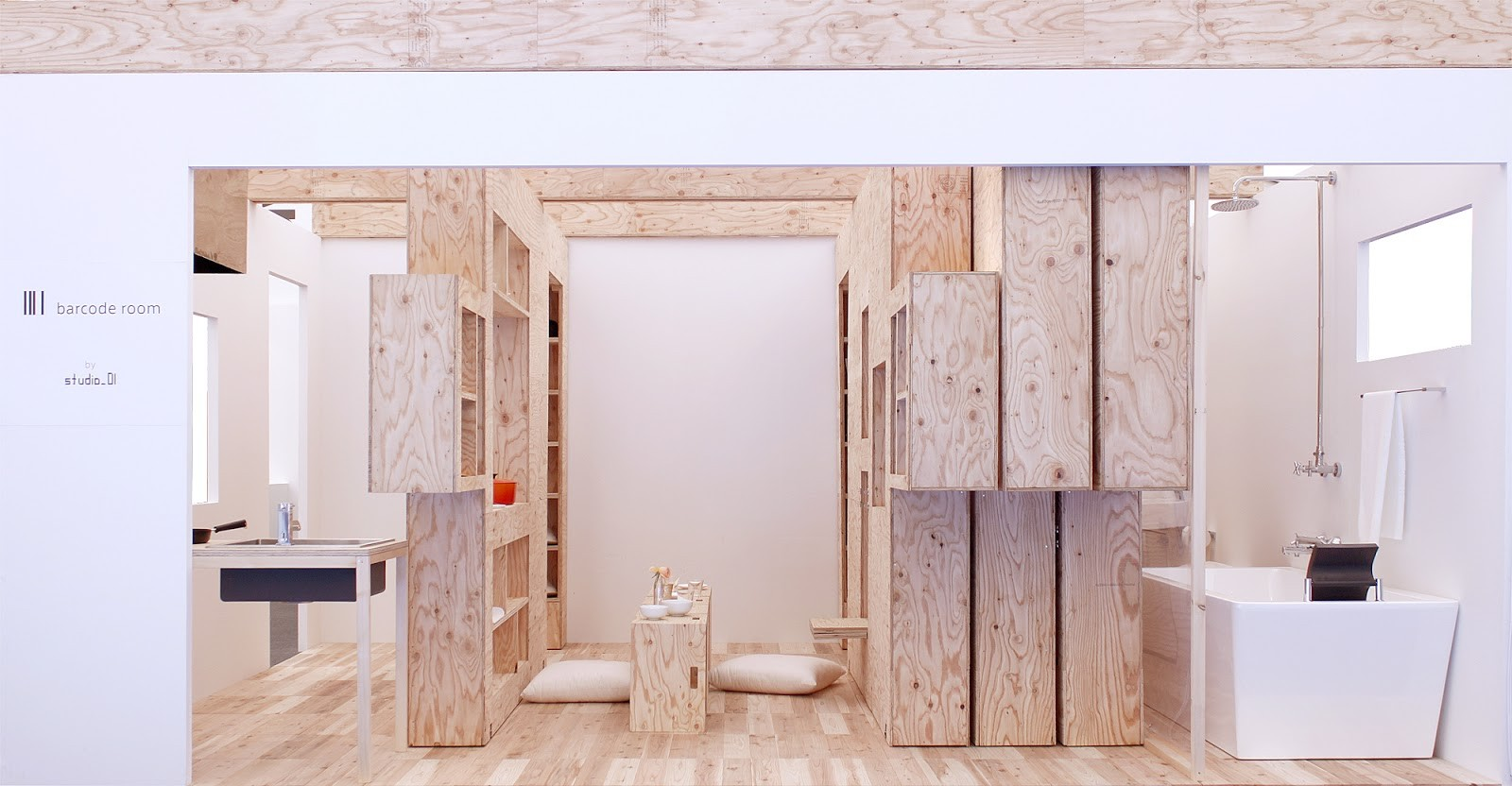 Barcode Room: Un espacio mínimo y flexible a través de muebles dinámicos , © Studio_01