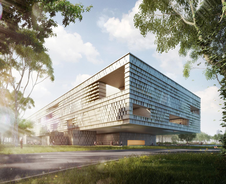 Ciudad de Guatemala: Museo Maya de América abrirá sus puertas el 2017, Courtesy of Harry Gugger Studio y over,under