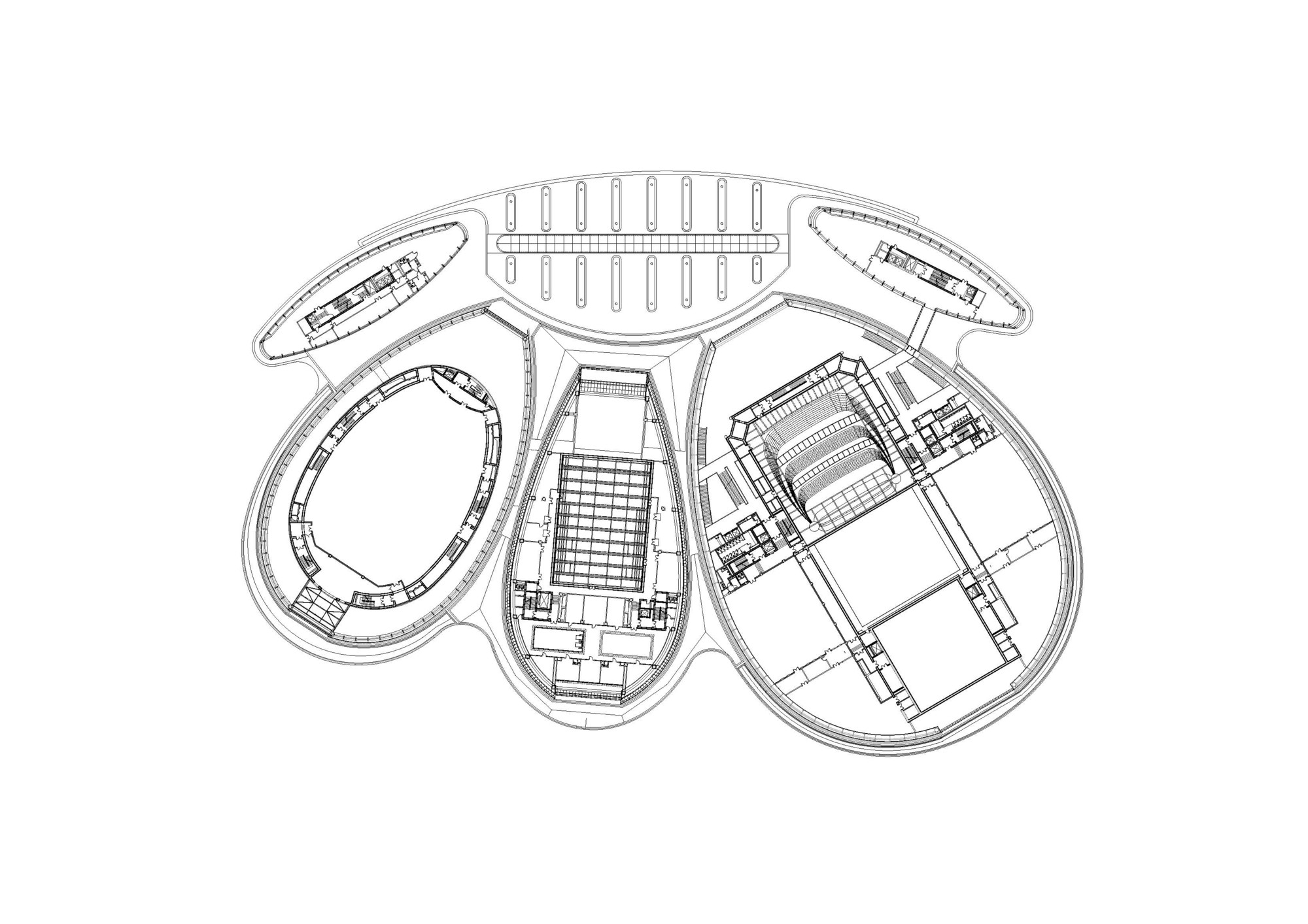 Day Care Center Floor Plans Gallery Of New Opera In Jinan Paul Andreu Architecte 38