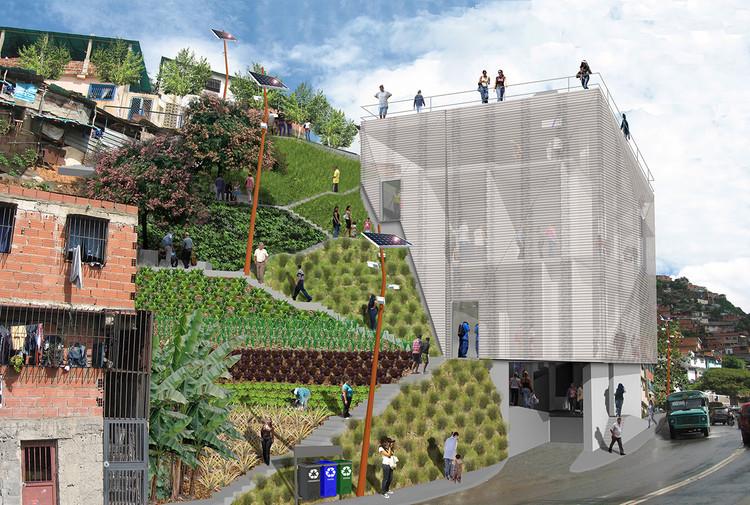 Acupuntura urbana busca requalificar o bairro La Morán em Caracas, Venezuela, Cortesia de Enlace Arquitectura