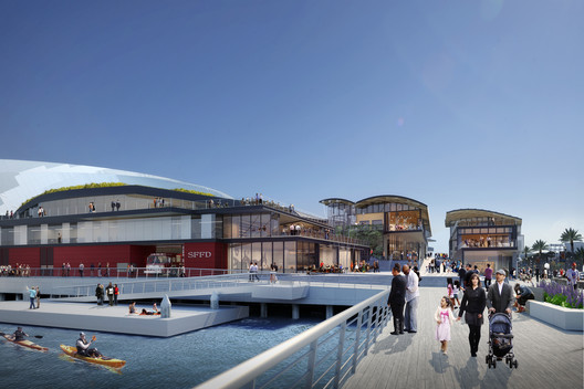 Version 3.0: Embarcadero Looking; Rendering by steelblue. Image Courtesy of Snøhetta