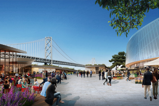 Version 3.0: Event Plaza; Rendering by steelblue. Image Courtesy of Snøhetta