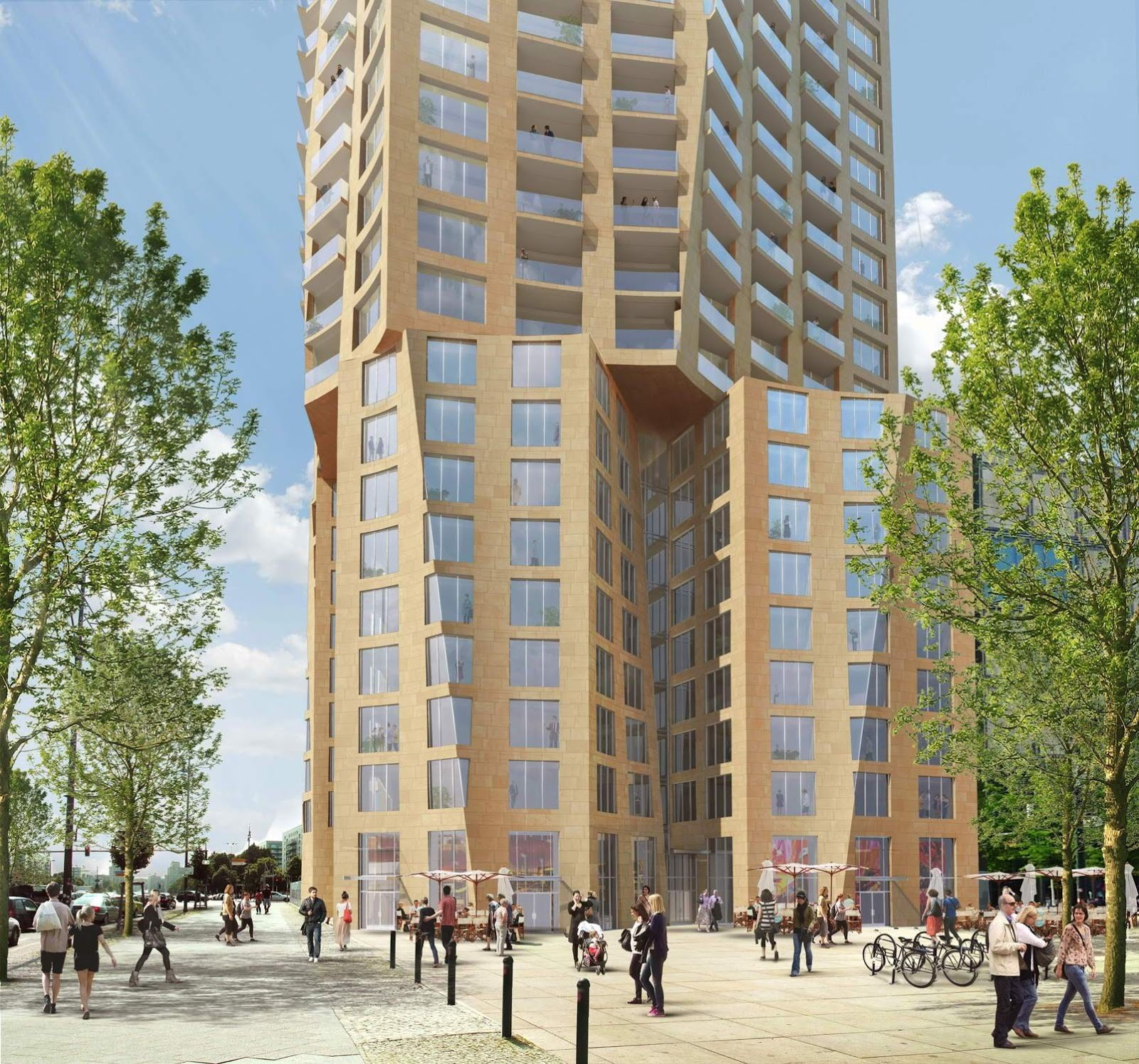 Gallery of frank gehry chosen to design berlin 39 s tallest for Design berlin