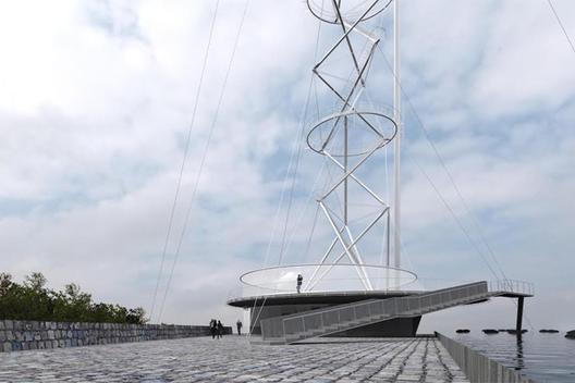 Smiljan Radic obtiene Primer Lugar en Concurso Torre Antena Santiago, Propuesta Primer Lugar: Smiljan Radic + Gabriela Medrano + Ricardo Serpell. Image