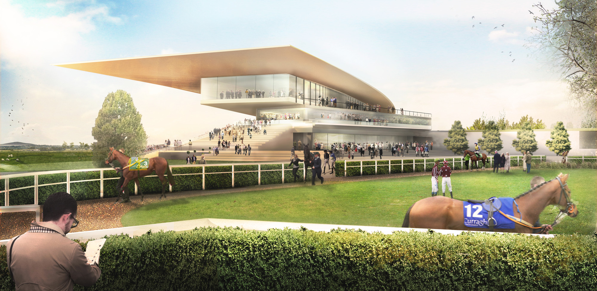 Grimshaw Selected to Redevelop Ireland's Most Prestigious Racecourse, Courtesy of Grimshaw