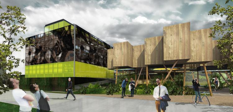 Menção honrosa no concurso para o Pavilhão do Brasil na Expo Milão 2015 / Dois Arquitetura , Entrada do pavilhão. Image Cortesia de Equipe do projeto