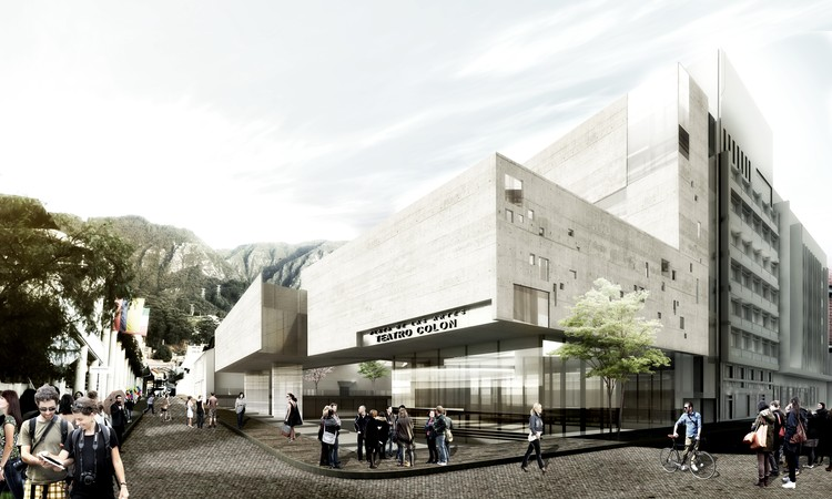 Primer Lugar Concurso Internacional: Ampliación del Teatro Colón de Bogotá, Colombia, Cortesía de López Montoya Arquitectos