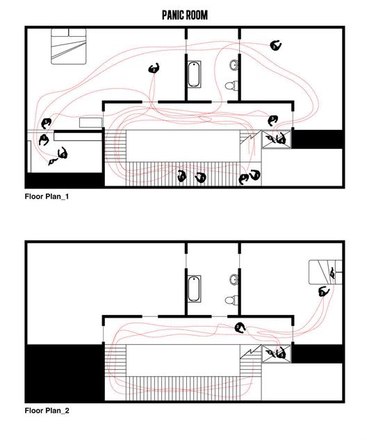 Cine y Arquitectura: Las planimetrías de los grandes clásicos del Cine, 'La Habitación del Pánico', Edición 1. Imagen Cortesía de Interiors Journal