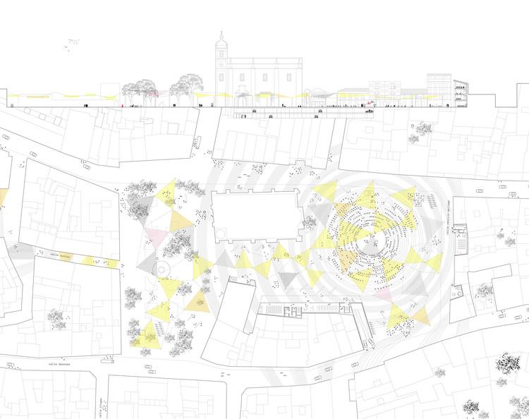 Vencedor do Concurso EUROPAN12: A cidade adaptável, Planta e Corte