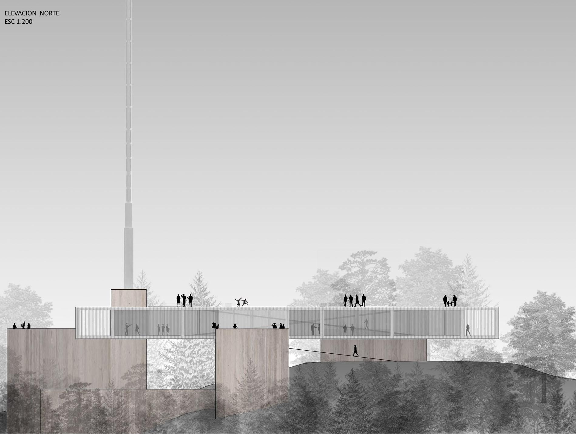 Mención Honrosa Concurso Torre Antena Santiago: Ruiz Solar Arquitectos