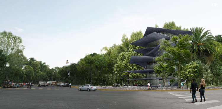 "Archivo: Zeller & Moye's Cultural ""Exoskeleton"" Planned for Mexico City, Cortesía de Zeller & Moye"