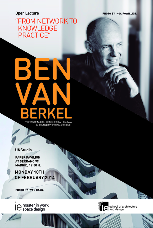 """From network to knowledge practice"" conferencia de Ben Van Berkel en IE School of Architecture & Design"