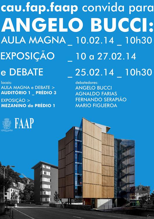 Exposição de projetos de Angelo Bucci no Museu de Arte Brasileira da FAAP, em São Paulo