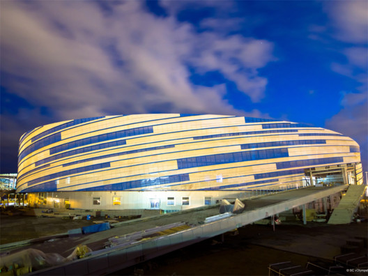 Shayba Arena / Stahlbau Pichle. Image © 2014 XXII Winter Olympic Games