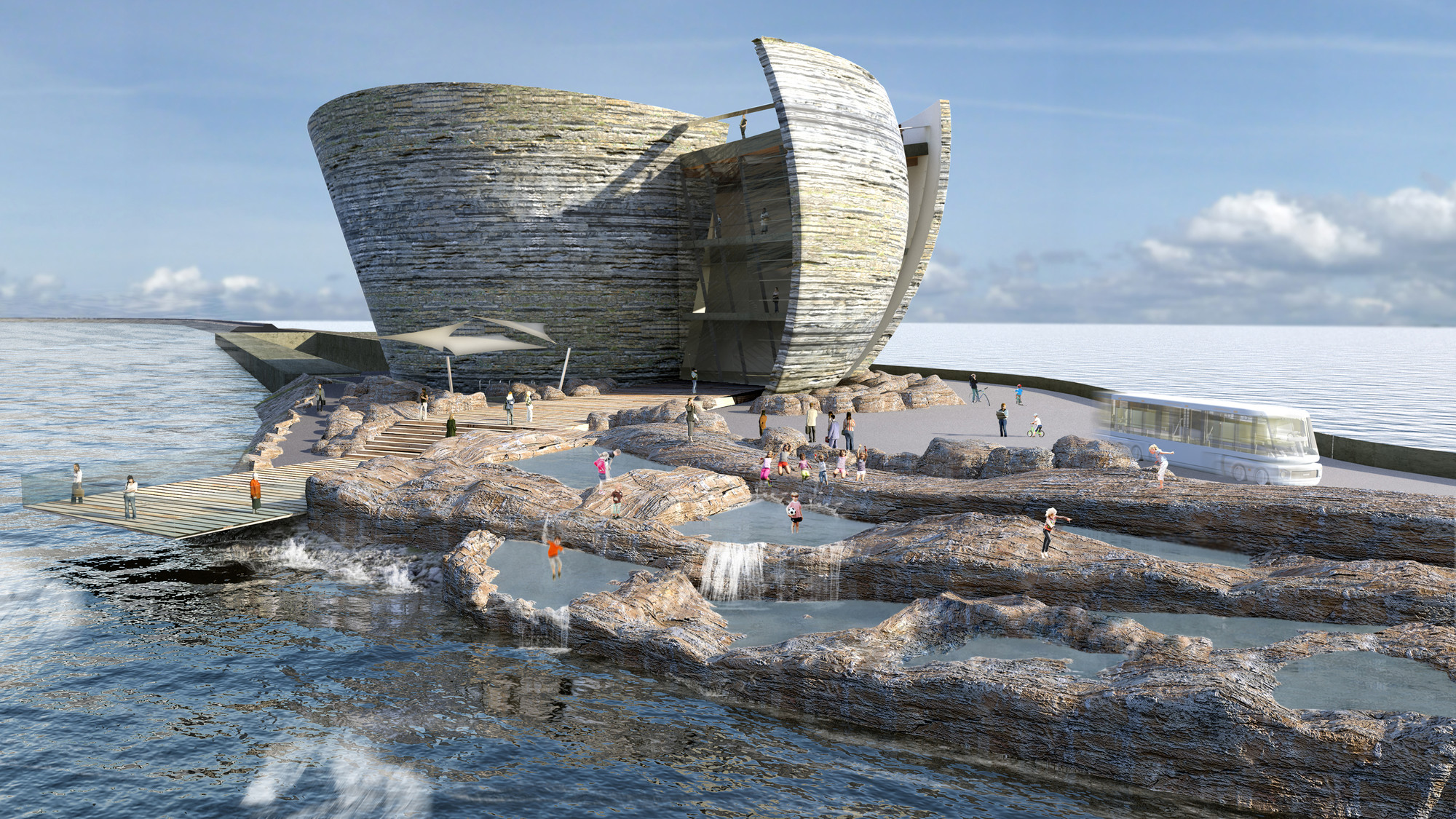 Juice Architects Propose Offshore Visitor Centre for Swansea Bay, Courtesy of Juice Architects