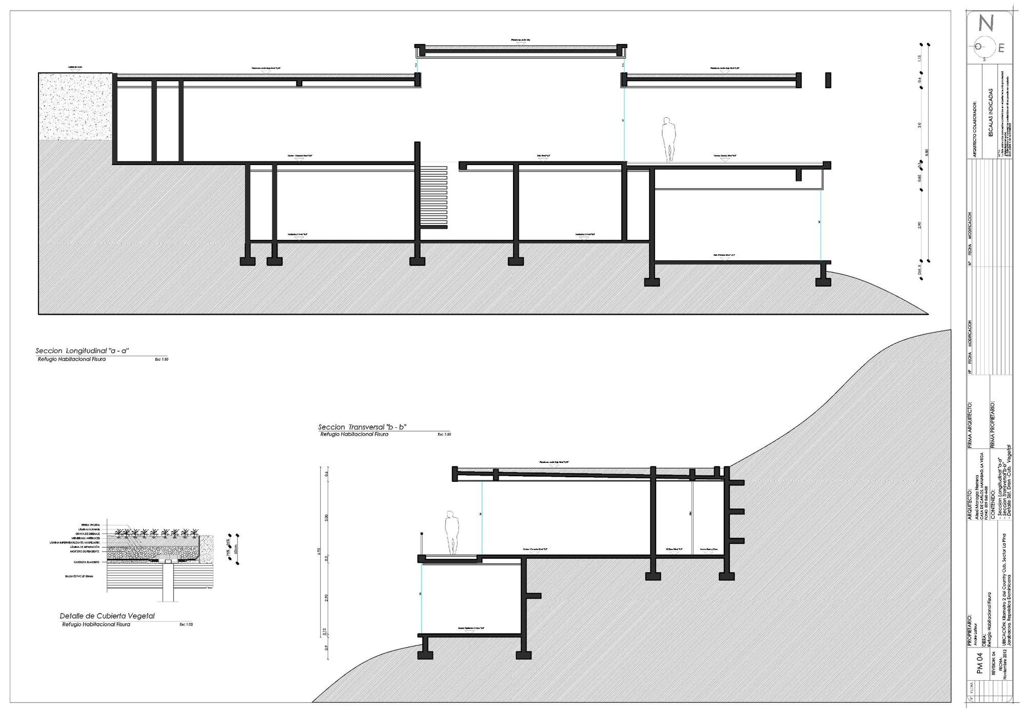 Galeria de casa rd vasho 27 for Cortes arquitectonicos