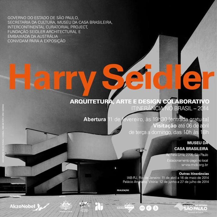 Exposição sobre Harry Seidler no Museu da Casa Brasileira