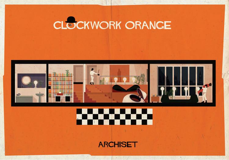 ARCHISET de Federico Babina: um tributo ao desenho de interiores doss Clássicos do Cinema, © Federico Babina
