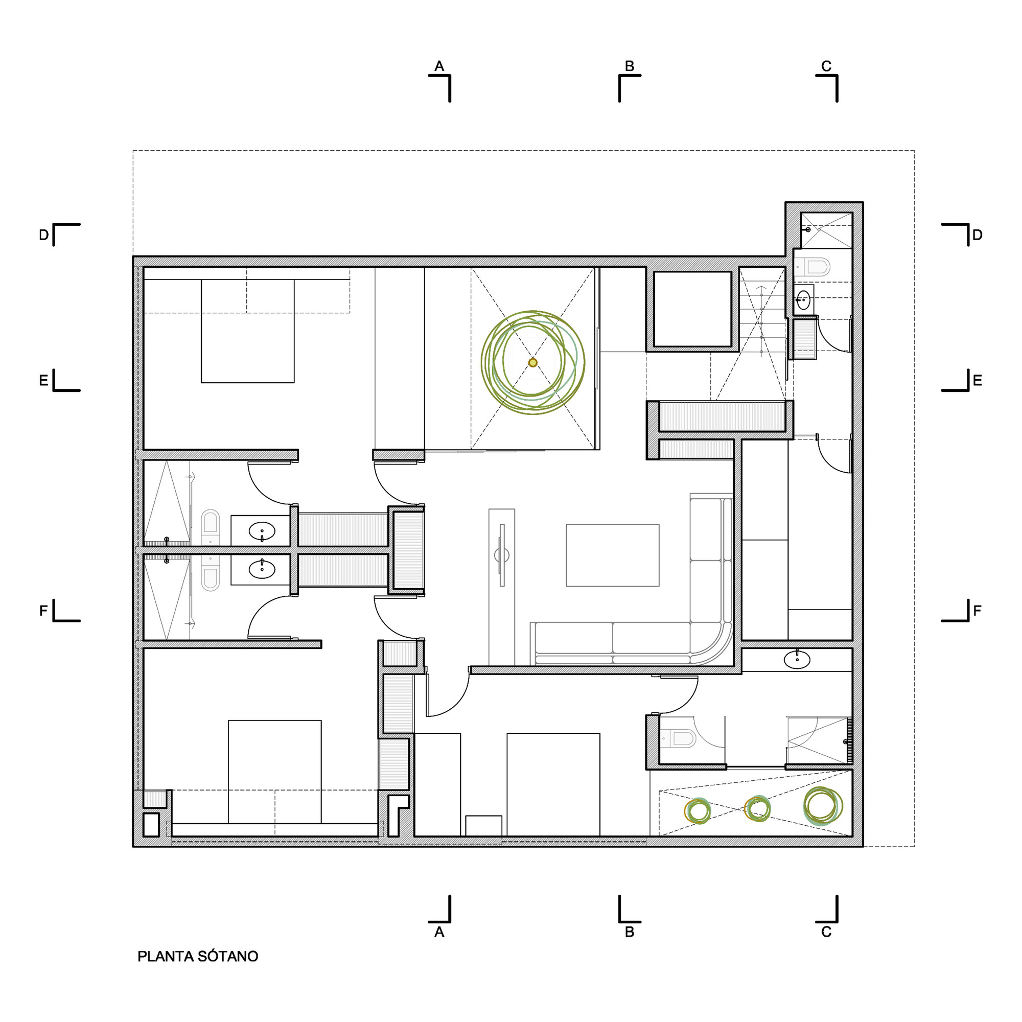 Ranch Floor Plans With Walkout Basement Galer 237 A De Casa P12 Martin Dulanto 44