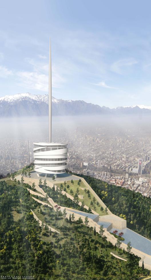 Mención Honrosa Concurso Torre Antena Santiago: GmasP + Saez Joannon Arquitectos, Courtesy of GmasP® Ingeniería y arquitectura+ Sáez Joannon