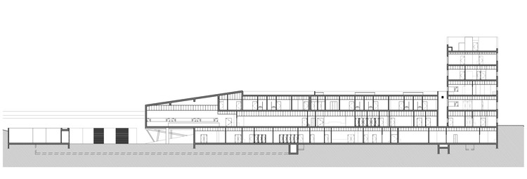 Nordial center mjarc arquitectos archdaily brasil corte ccuart Choice Image