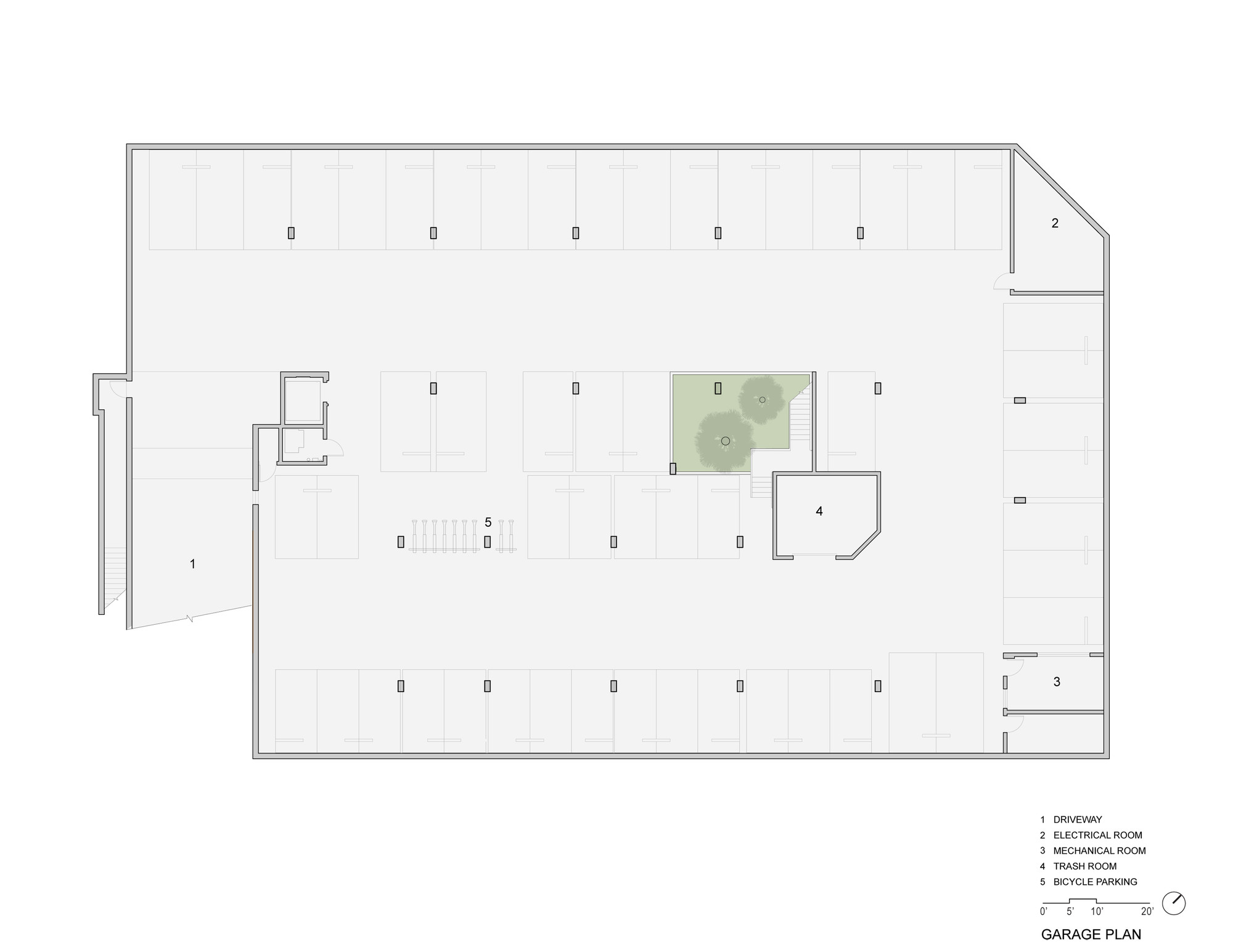 garage floor plan gallery of pico place scarpa architects 18 11850