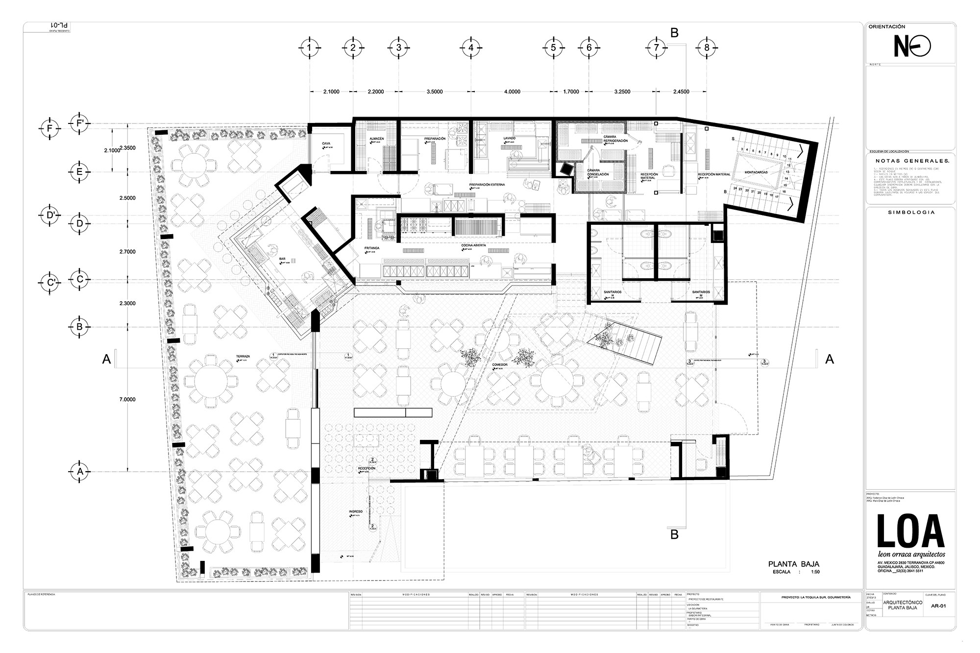 52fb8d4de8e44eac79000158 La Tequila South Restaurant Loa Ground Floor Plan on Coffee Shop Layout Floor Plan