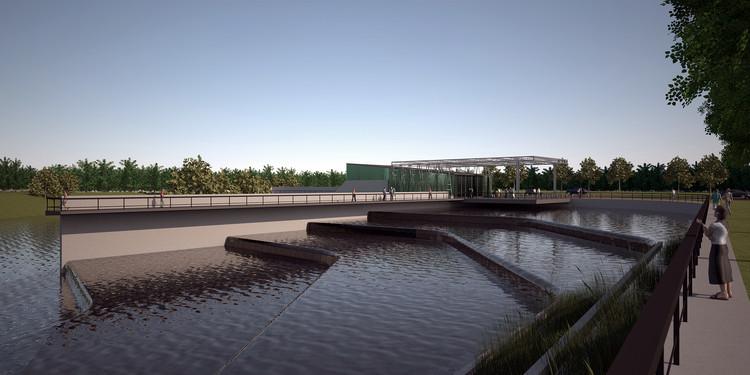 Primeiro Prêmio de Arquitetura e Desenho Urbano Sustentável - Parques Ambientais SEPA. Bacia Matanza Riachuelo / Argentina, Cortesia de Equipe Primeiro Lugar
