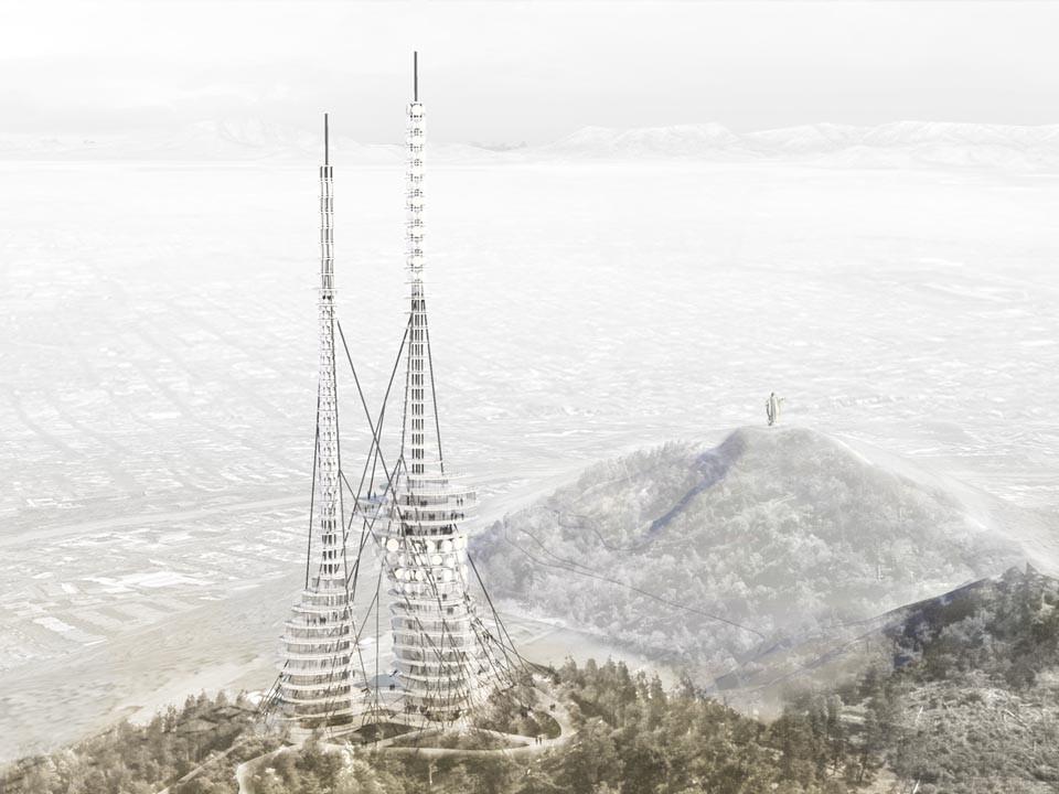Segundo Lugar Concurso Torre Antena Santiago: Folch, Ibáñez, Rubio, Armanet, Courtesy of Equipo Segundo Lugar