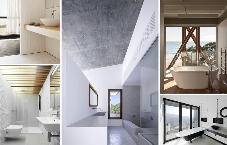 Ba os para viviendas arquitectura y ejemplos de dise o for Arquitectura de interiores universidades