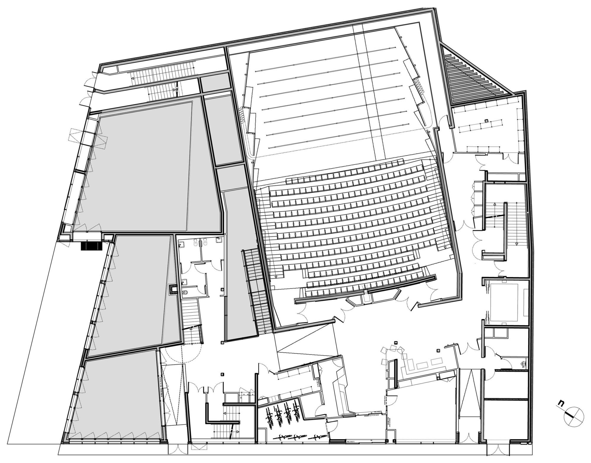 Music conservatory in paris 39 17th arrondissement basalt for Local builders house plans