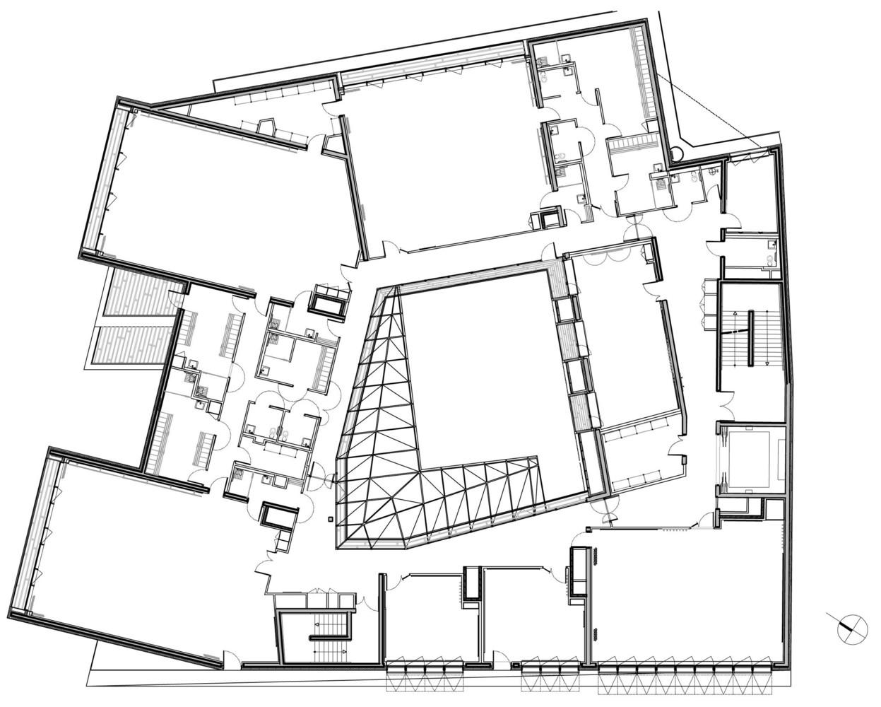 Gallery Of Music Conservatory In Paris 17th Arrondissement Basalt Architecture 27