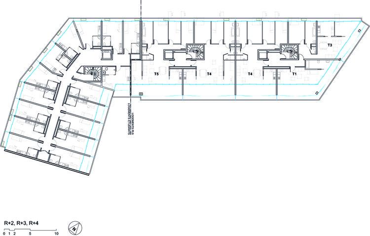 Vivienda social y residencia para estudiantes ourcq jaures for Arquitectura geriatrica