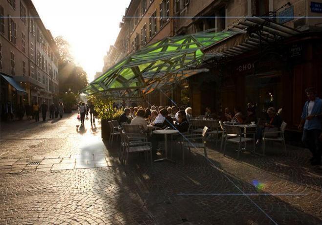 Urban Parasol, diseño mexicano inteligente que reducirá la contaminación en Paris, © Amorphica