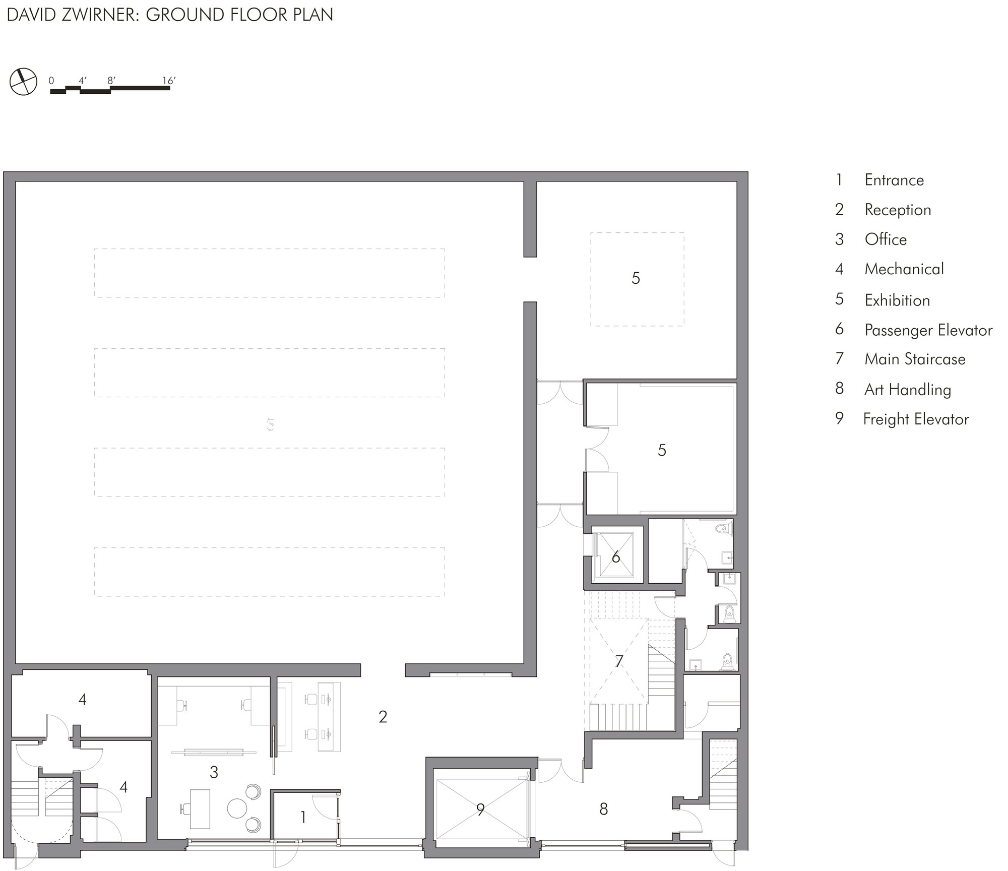52fd8848e8e44e3cd0000116 David Zwirner Gallery Selldorf Architects Ground Floor Plan on Woodworking Shop Layout Floor Plans