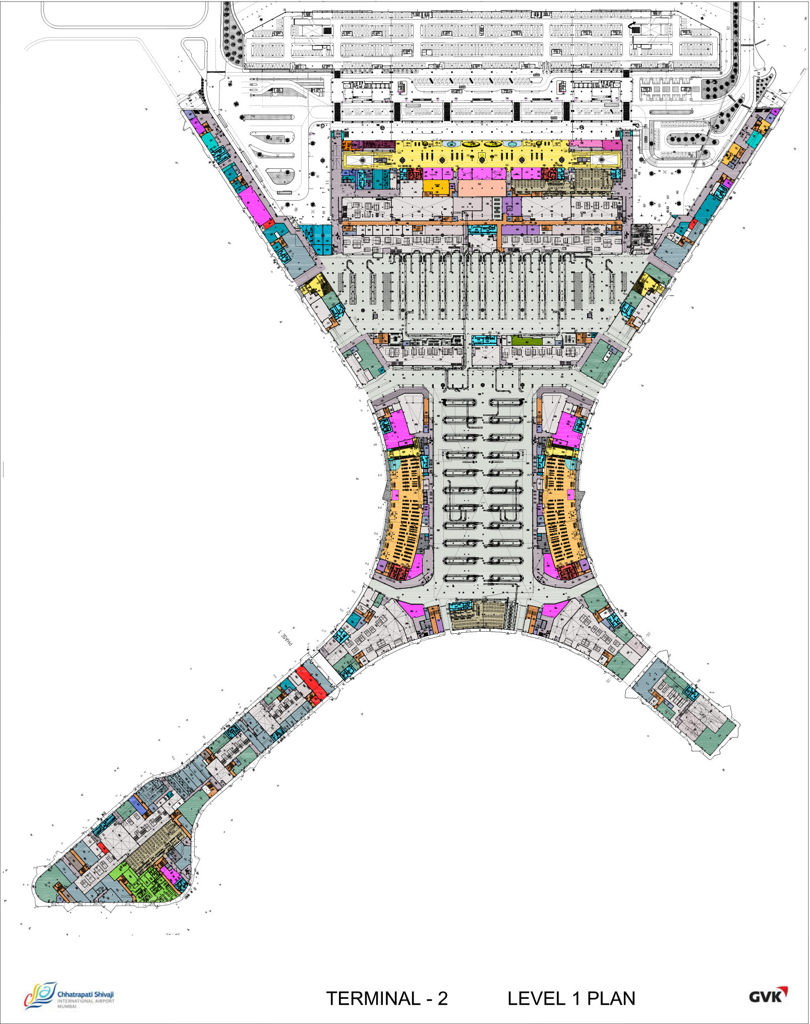 International Airport Mumbai Map Chhatrapati Shivaji International Airport   Terminal 2 / SOM
