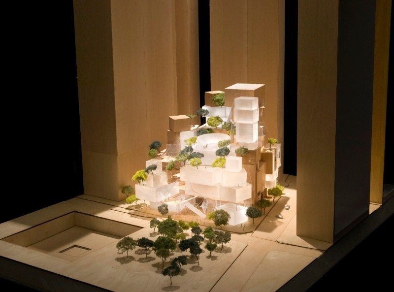Frank Gehry's Ground Zero Performing Arts Scheme Abandoned, Original Proposal. Image © Gehry Partners
