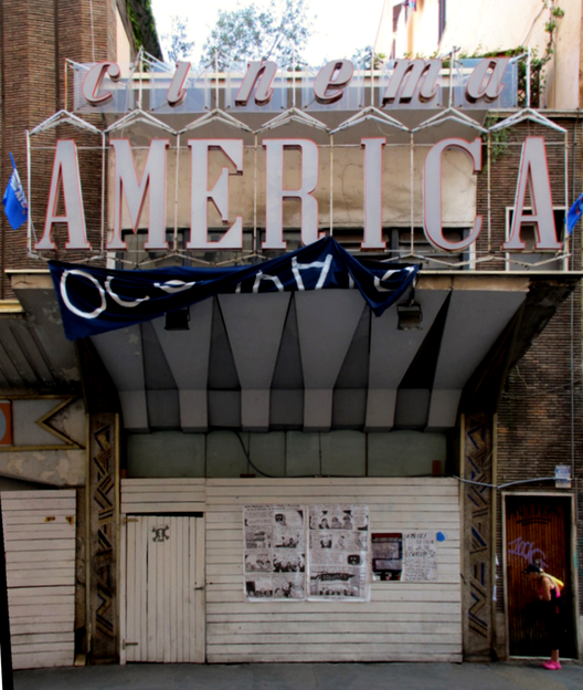 La cruzada por salvar el patrimonio italiano: Cinema America, Demolición o Restauración, Cinema America, hoy. Image Courtesy of Cristina Mampaso Cerrillos