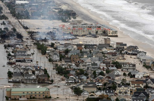 Is It Time To Abandon the Coastline?, New Jersey in the aftermath of Hurricane Sandy. Image © Governor's Office / Tim Larsen