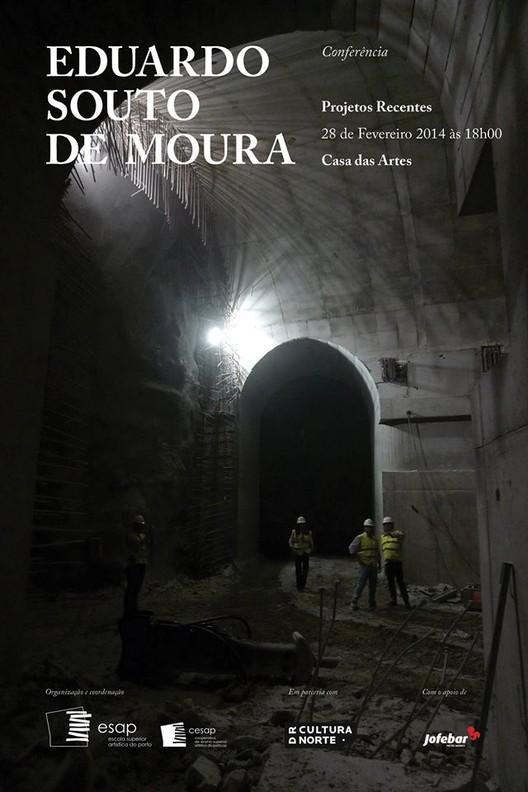 """Conferência """"Projetos Recentes"""" com Eduardo Souto de Moura na Casa das Artes, Porto"""