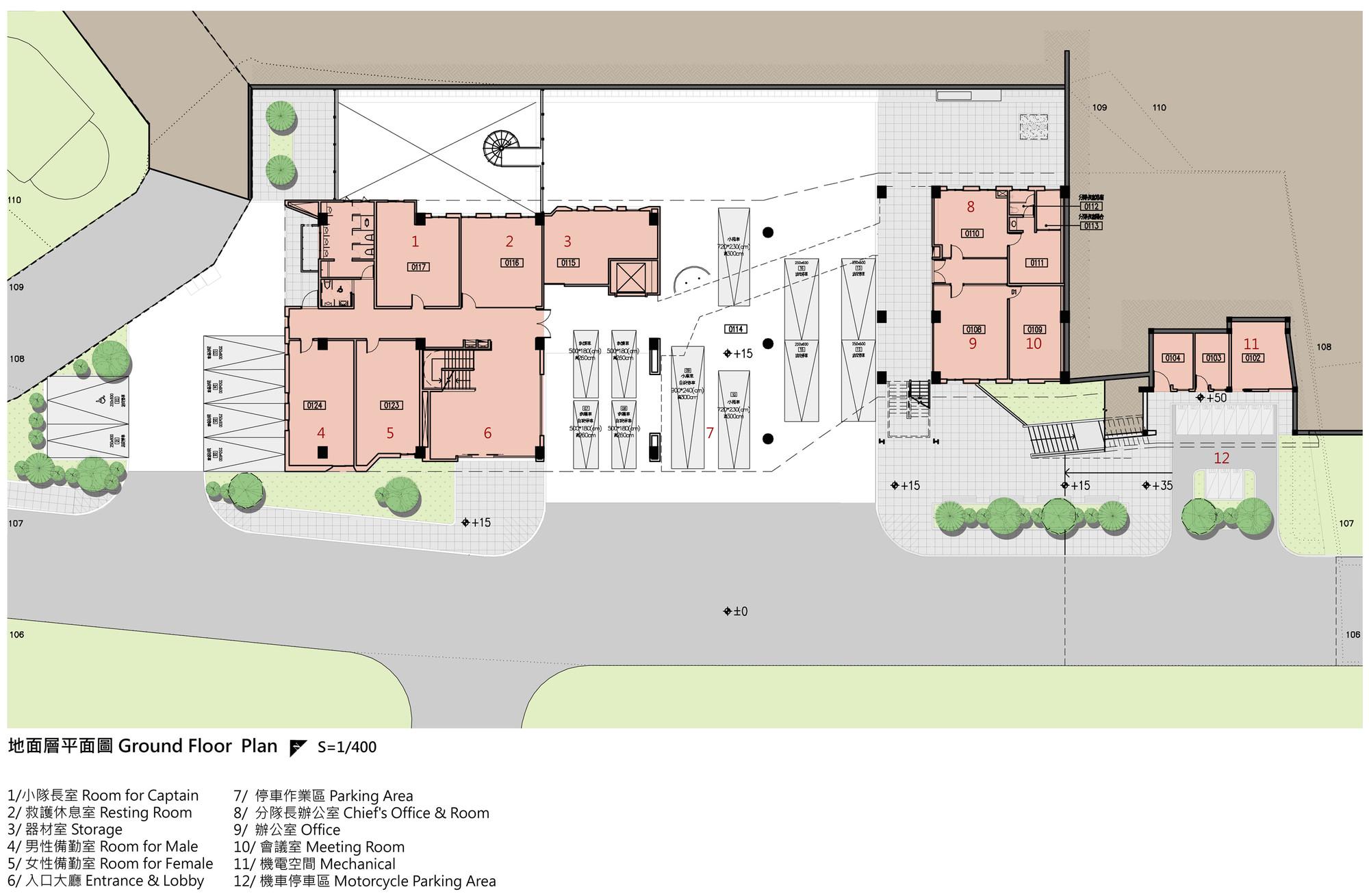 Gallery of da yo fire station k architect 40 for Fire station floor plans design